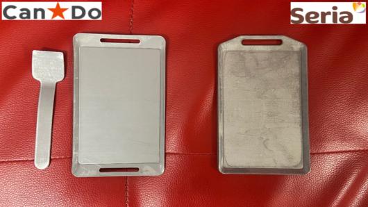 キャンドゥとセリアのミニ鉄板比較画像